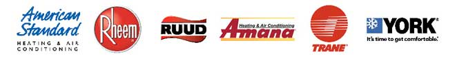 home heating and air conditioning systems - Amana - American Standard - Goodman - Rheems - Ruud - Trane - York - Mitsubishi